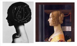 Retrato de Giovanna Tornabuoni de Ghirlandaio, y retrato de Horst P Horst
