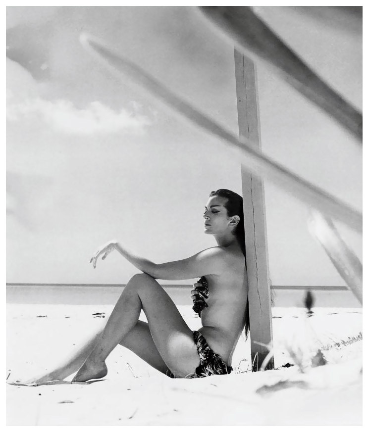 Carmen Dell´Orefice en Bahamas, 1952. Fotografía de Norman Parkinson